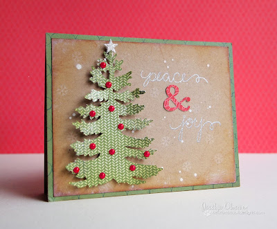 Peace and Joy holiday card by Jocelyn Olson for Newton's Nook Designs