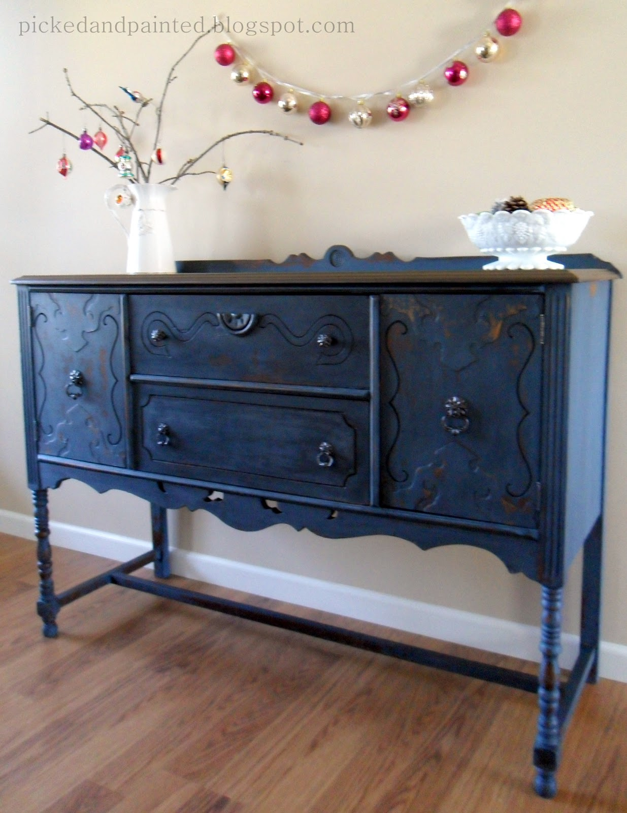 Helen nichole designs soldier blue buffet for Painted buffet sideboard