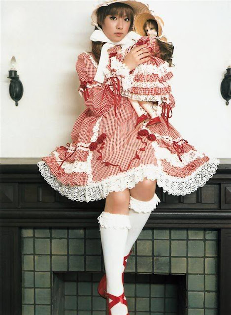 red and white sweet lolita dress with bows