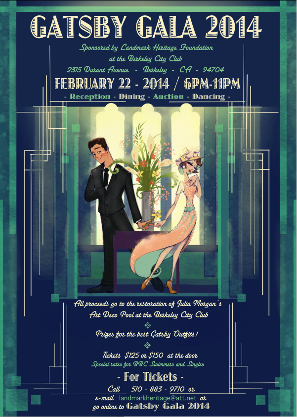 The berkeley city club gatsby gala illustration