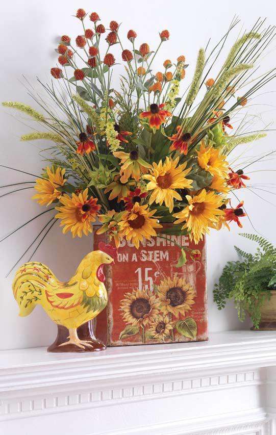 Shelley b decor sunflower arrangement