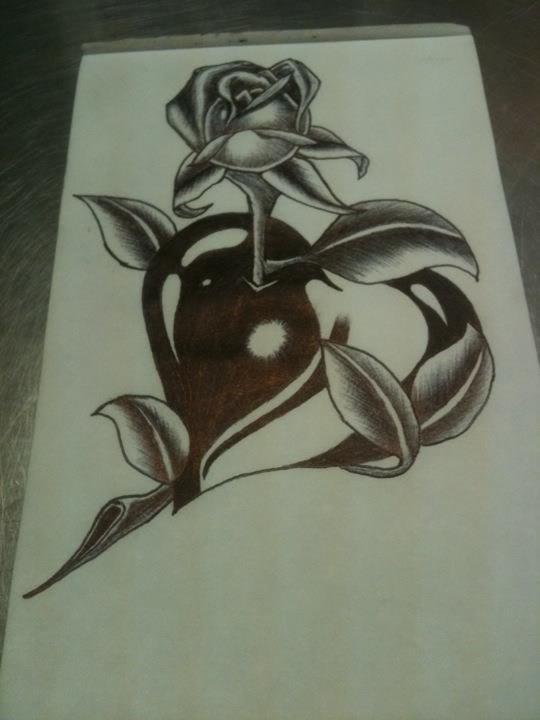 Dibujos para dibujar de corazones con espinas y alas a lapiz - Imagui