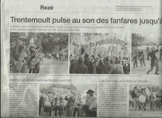 La fanfare Tahar Tag'l sur le quotidien Ouest-France