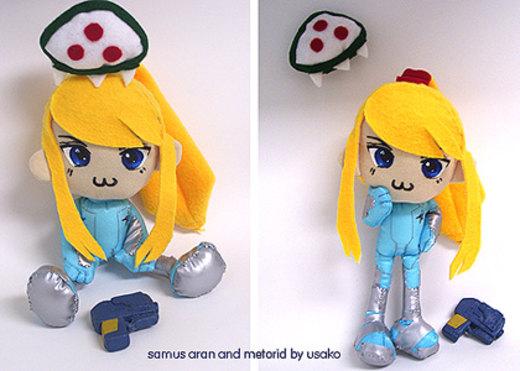 Samus Aran and Baby Metroid XP por usako-chan