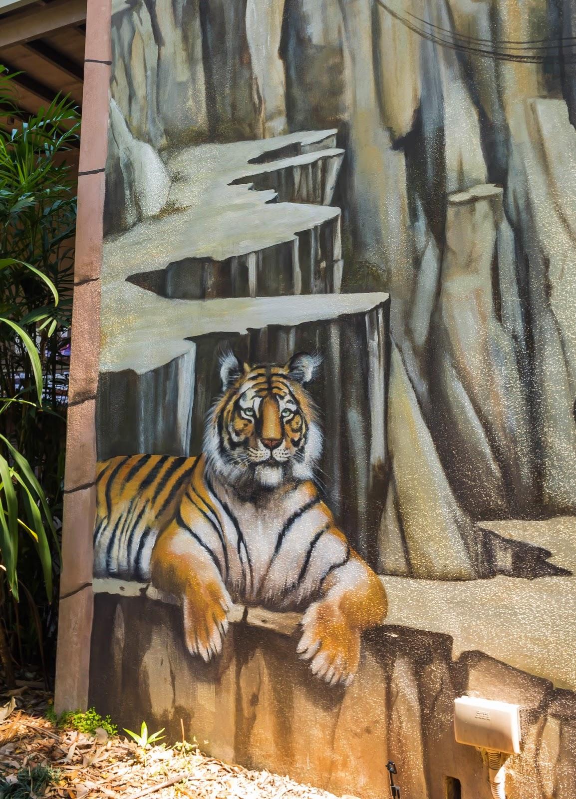 тигр фрески рисунок