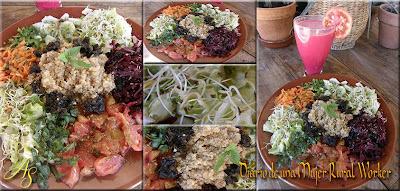 Ensalada con quinoa y algas