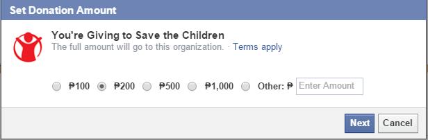 Help Stop Ebola through Facebook by donating
