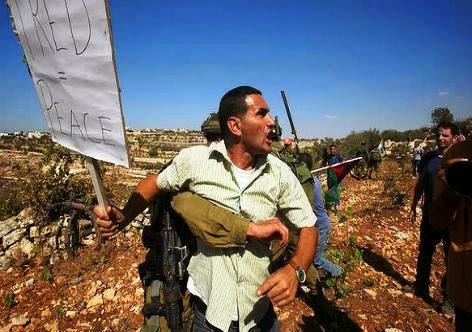 palestino protesta