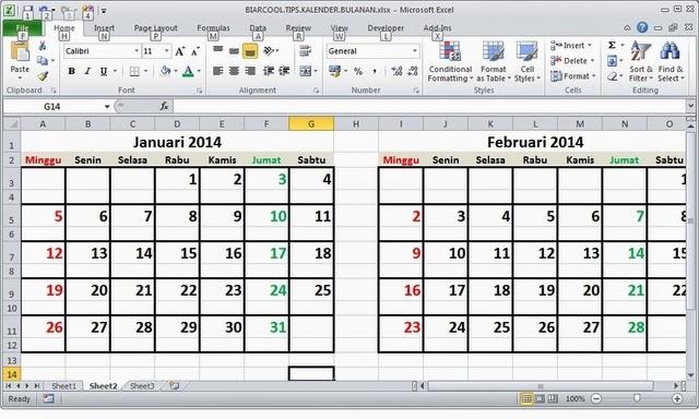 office tips cara membuat kalender di excel cepat manual otomatis