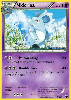 Nidorina Plasma Freeze Pokemon Card