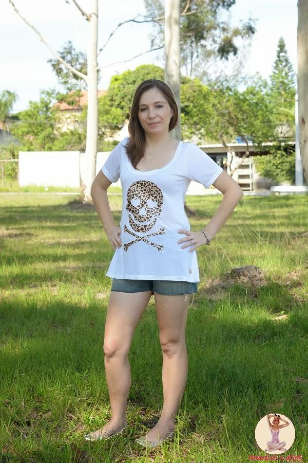 T-shirt Skull Onça