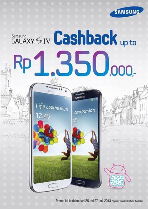 Promo Samsung Galaxy SIV Cashback up to Rp1.350.000 dari Global Teleshop