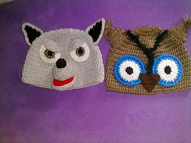 Bordando y tricotando para ti : Gorro Crochet Animales del Bosque ...