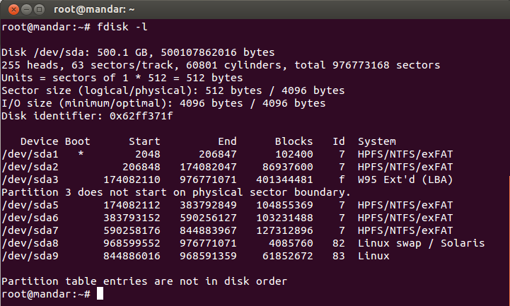 Fdisk Linux - фото 10