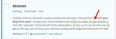 cara mengaktifkan akismet di blog wordpress