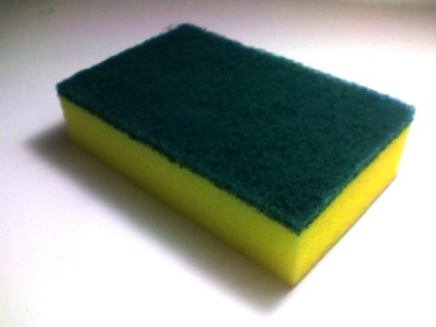 Black Kitchen Sponge Scrubber
