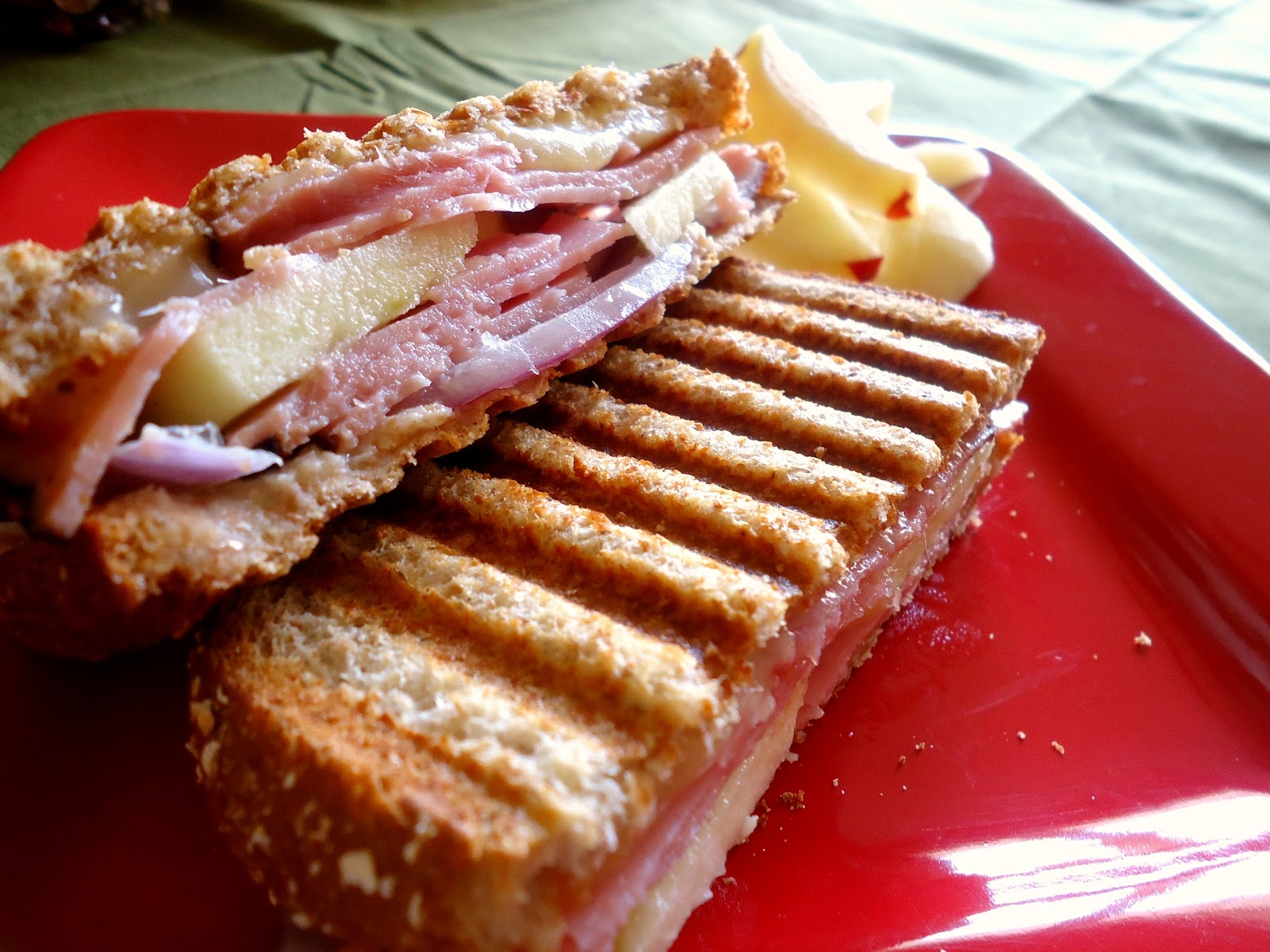 Still Lucky: Ham and Cheese Apple Panini