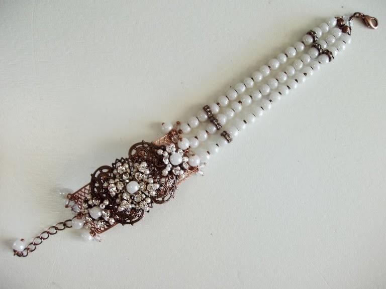 Perles anciennes crystal bijoux Briare France Armband perlen alte edelstein glas stein