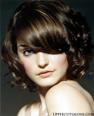 funny picture clip beauty curly bob hairstyles showing