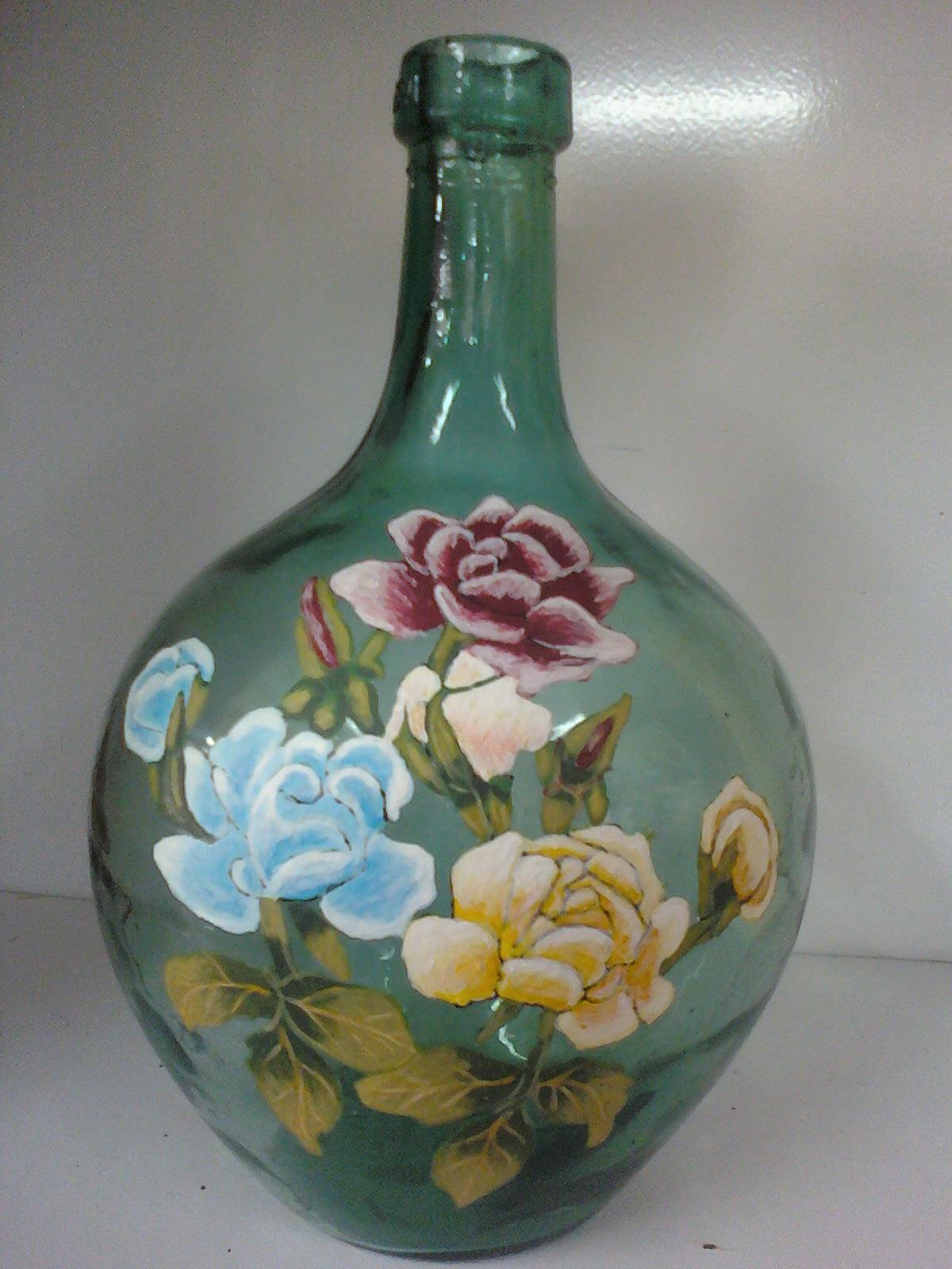 manualideasjcobos garrafa de cristal pintada a mano