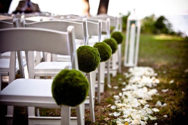 Decoração para casamento em jardim.