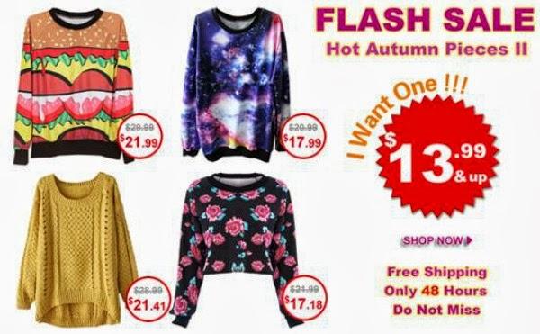 ROMWE Bestseller Flash Sale - Hot Autumn Pieces - October 2013