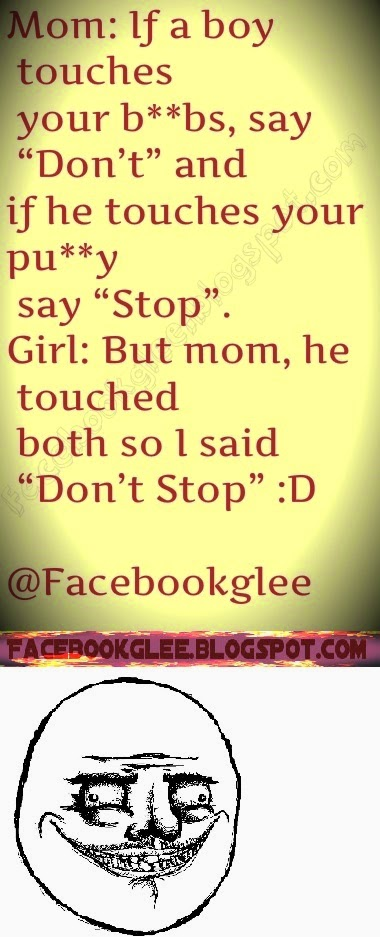 Funy joke of mom and daughter