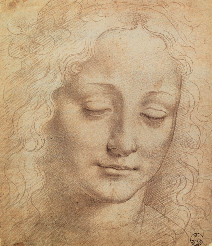art artists leonardo da vinci part 3 female head charcoal chalk on paper