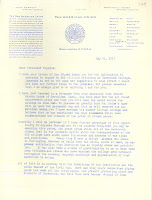 Page 1 of letter from John Bartlett to President Hopkings, May 31, 1917