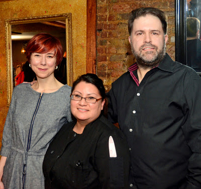 Chef Gina Rodriguez (center) with Serrano owners Jennifer and Donal McCoy