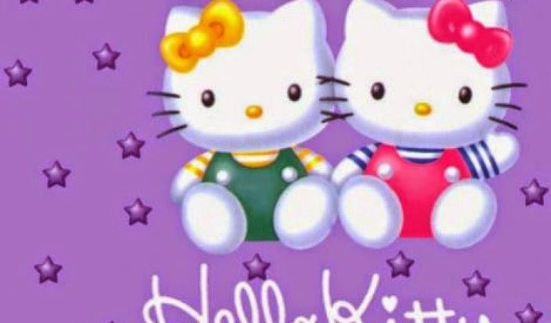 Gambar wallpaper hello kitty ungu cantik sekali