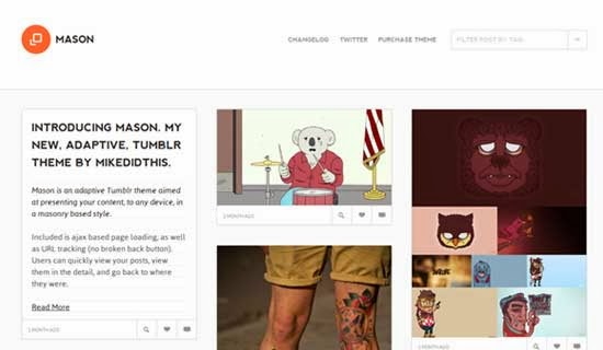 Mason - A Masonry Inspired Tumblr Theme