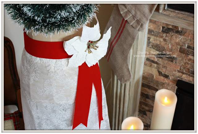 Ribbon Sash- Christmas Dress Form-Vintage Inspired-Antique Farmhouse Dress Form-From My Front Porch To Yours