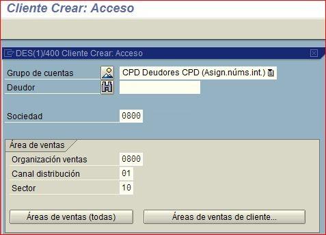 Crear cliente SAP