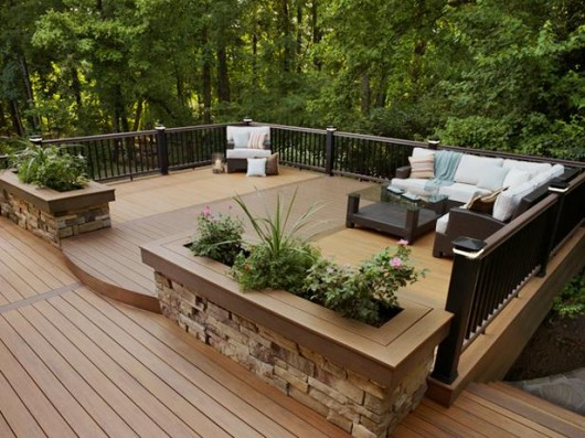 Amazing Beautifuly Wood Deck Designs Ideas Interior