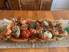 Pumpkins in Wooden Bowl