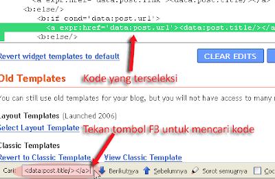 Cara Memasang Tag Title Pada Blog