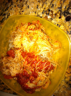 Photo of pizza spaghetti
