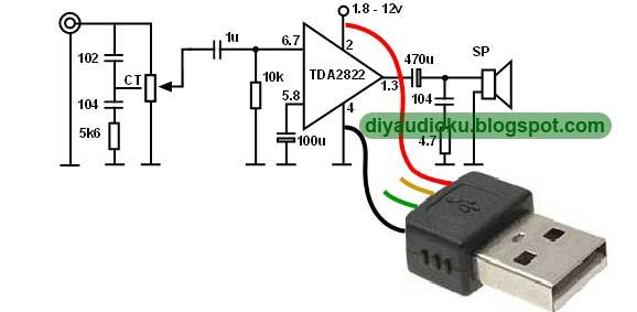 DIY USB Amplifier Untuk Laptop Atau PC