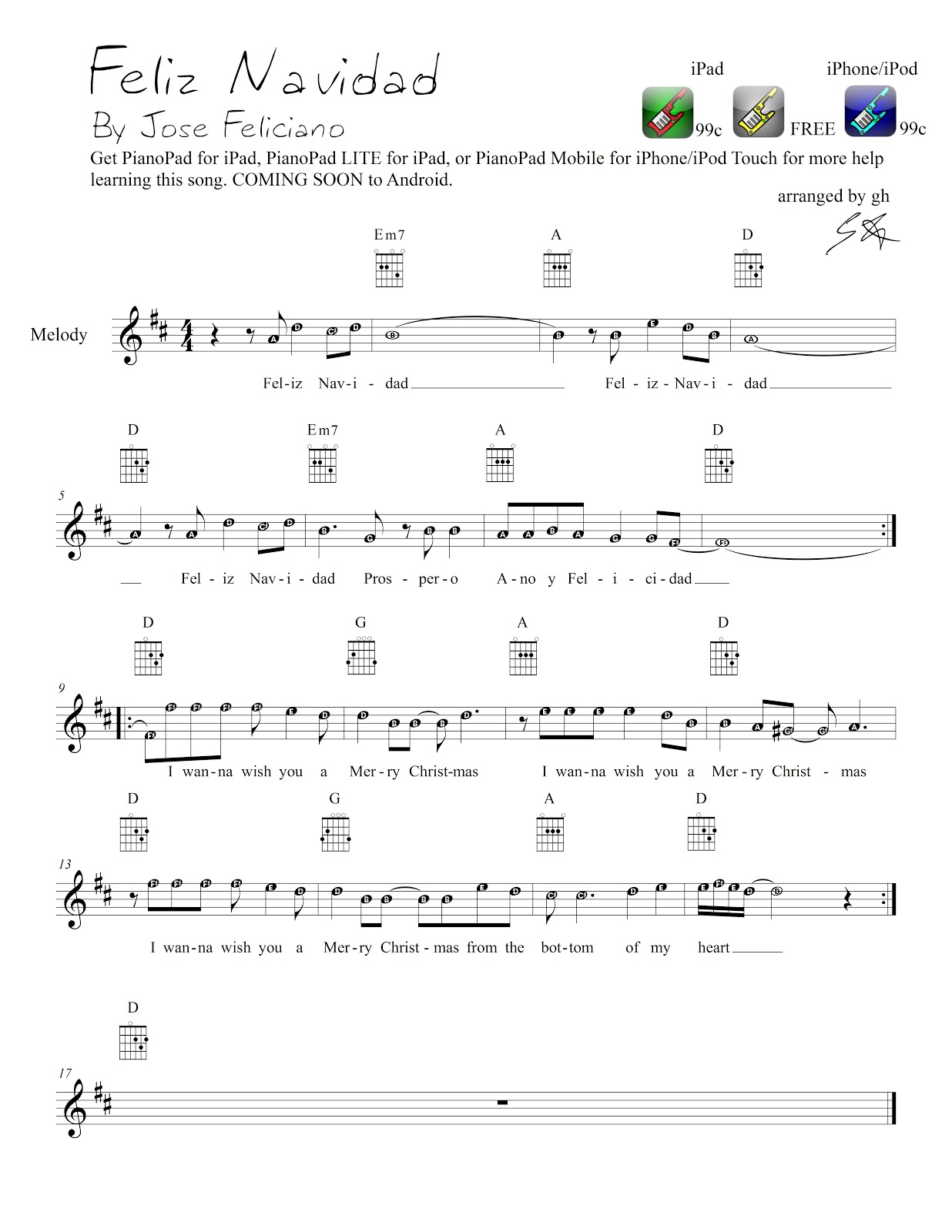 PianoPad Upload Community: This CHRISTMAS song titled ...
