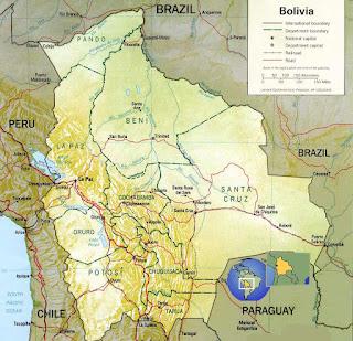 Potosi Bolivia mapa