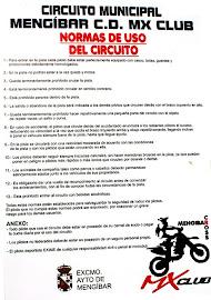 NORMAS DE USO DEL CIRCUITO