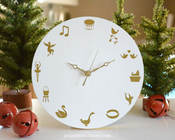 DIY Modern Twelve Days of Christmas Clock