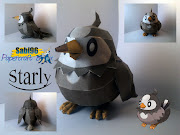 Pokemon Starly Papercraft. Pokemon Starly Papercraft
