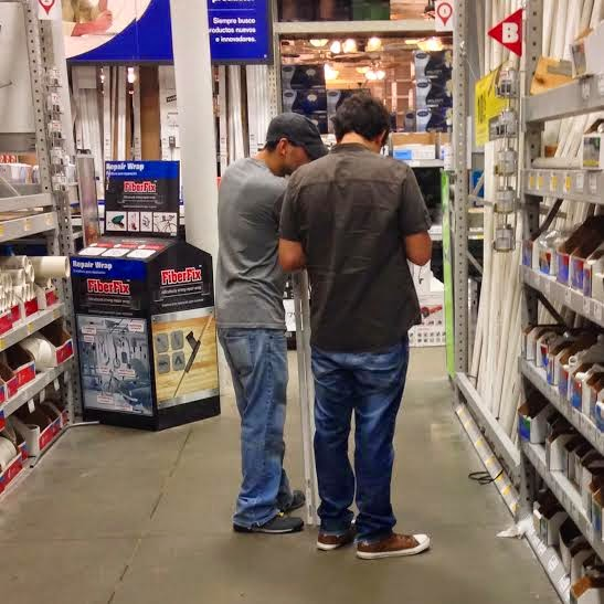 Shopping at Lowes Alexandria Louisiana