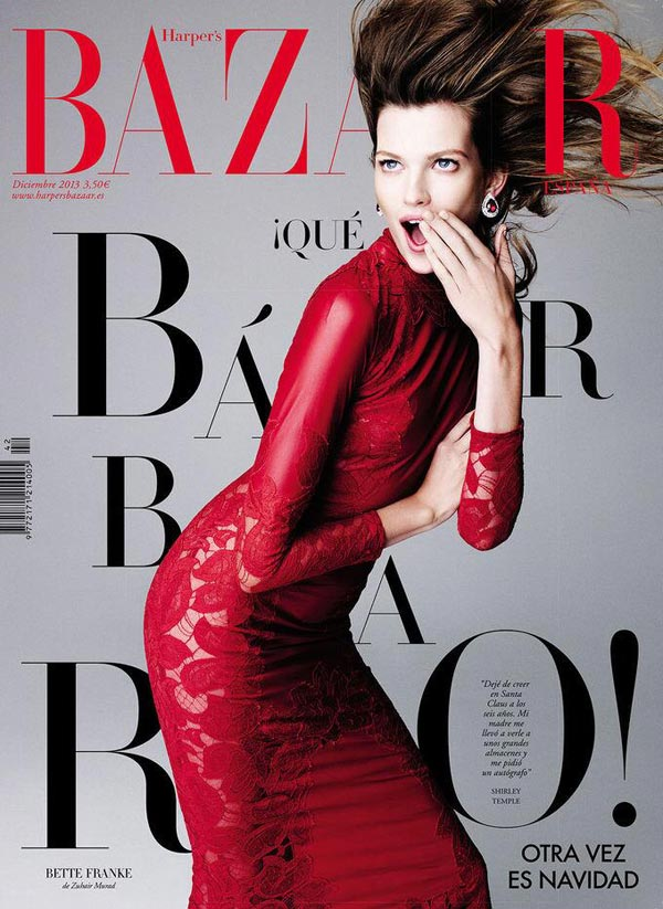 Harper's Bazaar Spain december 2013 cover