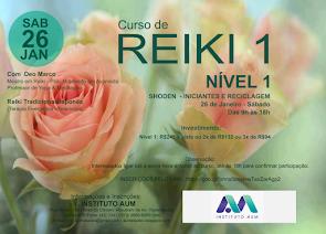 Curso de Reiki - Nível 1 - Iniciantes e Reciclagem