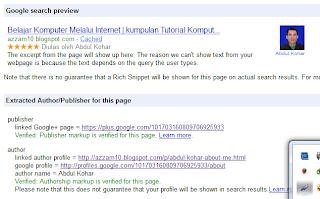 Membuat gambar profil di hasil pencarian google