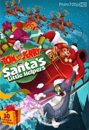 Tom and Jerry Santa's Little Helpers 2014 poster