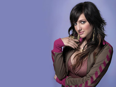 Ashlee Simpson Wide Screen Wallpaper